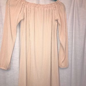 Light pink off the shoulder dress
